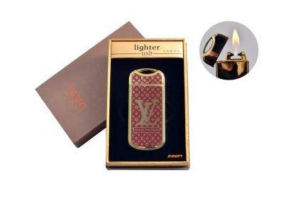 """USB зажигалка в подарочной упаковке """"Louis Vuittion"""" (Газовая с электроимпульсным поджигом) №4805-1"""