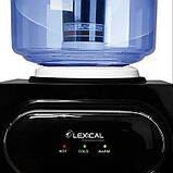 Кулер для води Lexical підлоговий компресорний охолодження/нагрів 550W/90W підлоговий диспенсер води, фото 4
