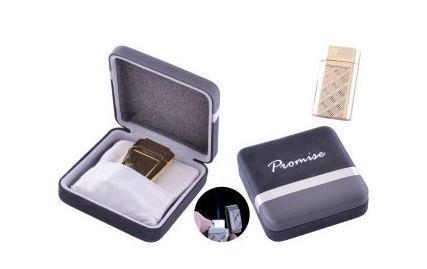 Зажигалка подарочная Promise (Острое пламя) №3526 Gold