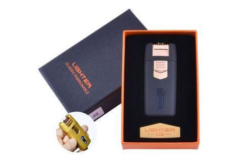 ЗажЗажигалка в подарочной коробке Lighter (Двойная молния) №HL-32 Black