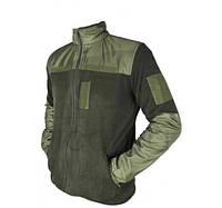 Кофта військова чоловіча флісова Тактична кофта ZaMisto Поліестер Хакі (ЗМ zm_jacket_2) 44
