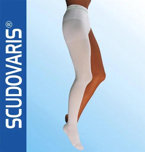 Компрессионные колготы на одну ногу Антитромботические короткие,код 438 CE SCUDOTEX класс мм Hg 18-24 (Италия)