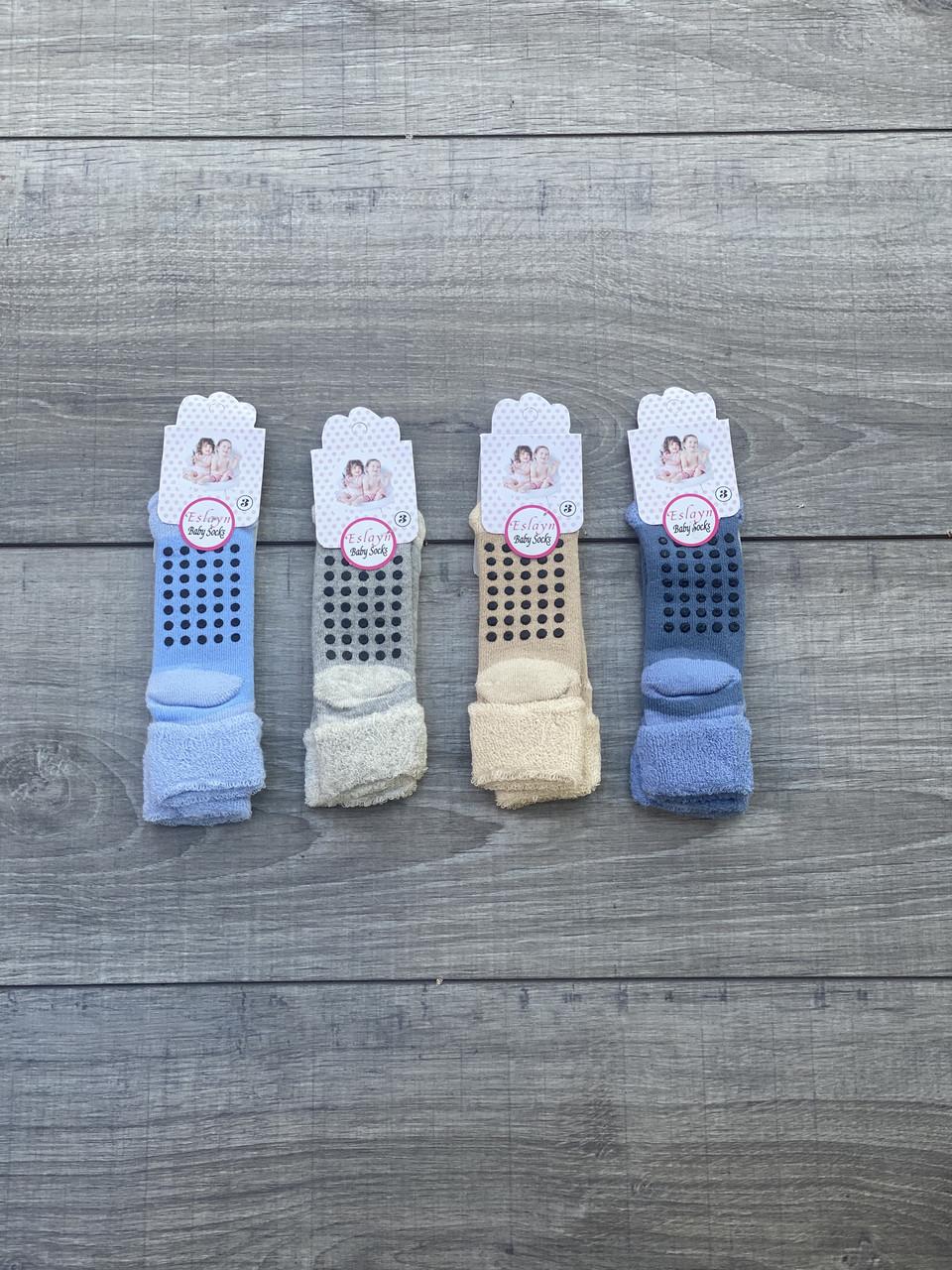 Дитячі шкарпетки з тормозками махрові носки для хлопчиків та дівчат Eslayn розмір 3
