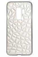Силиконовый чехол Ромбы 3D Diamond для Samsung Galaxy S9, Прозрачный