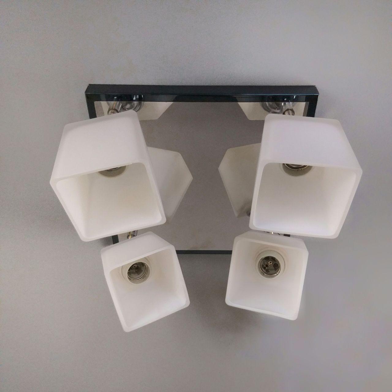 Люстра потолочная на 4 лампы 06-51203/4 CR+черн.жемчуг(ZZH)+WT