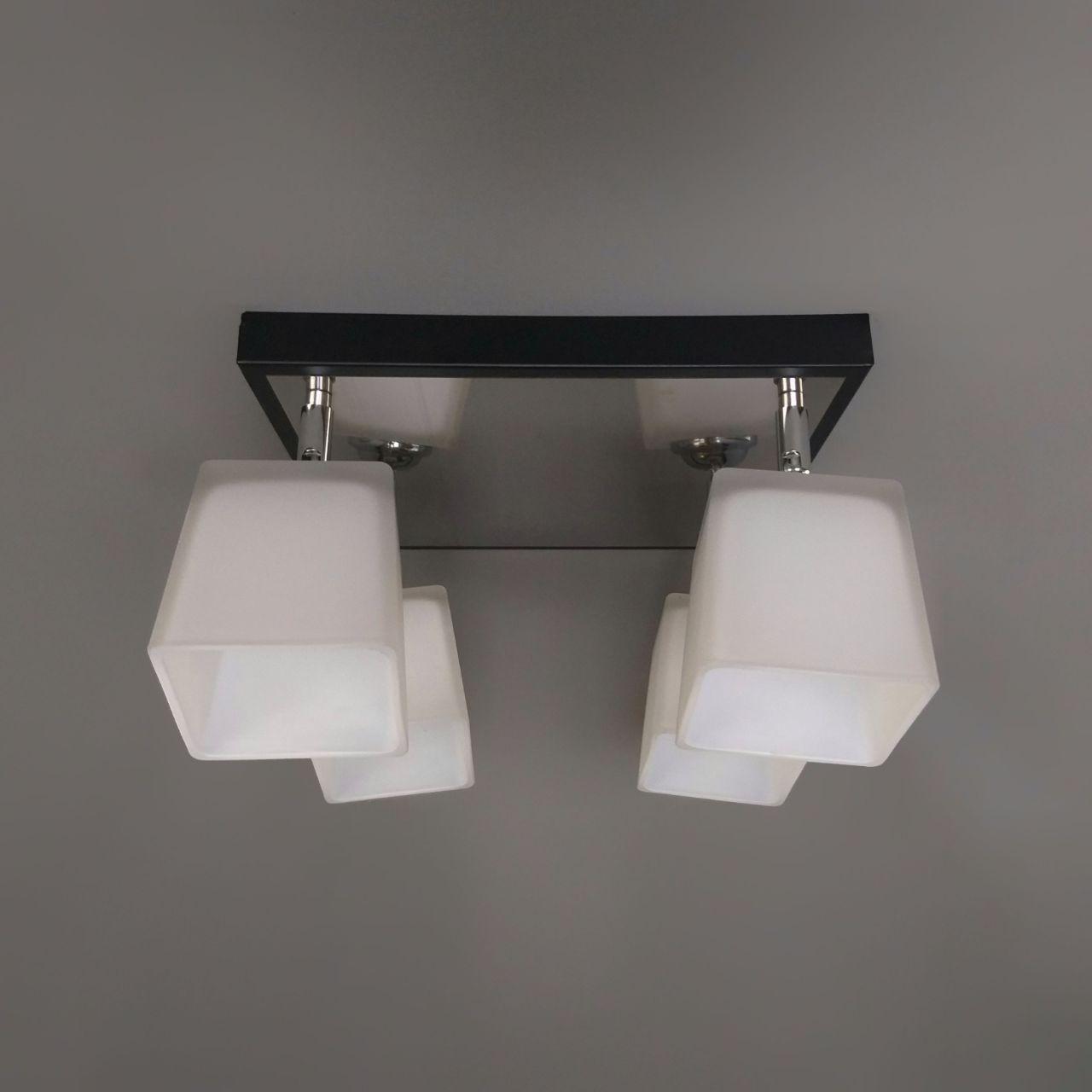 Люстра потолочная на 4 лампы 06-51203/4 CR+BK+WT