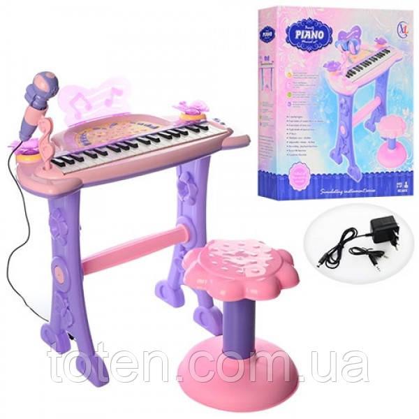 Піаніно, синтезатор 6613 на ніжках зі стільчиком, мікрофон, 37 клавіш, від батарейок і від мережі. Т