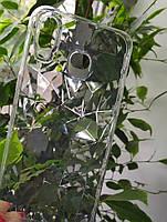 Силиконовый чехол Ромбы 3D Diamond для Samsung Galaxy A6S, Прозрачный