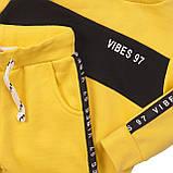 Детский желтый спортивный костюм для мальчика 1,5-6 лет, 86-92 cм, фото 4