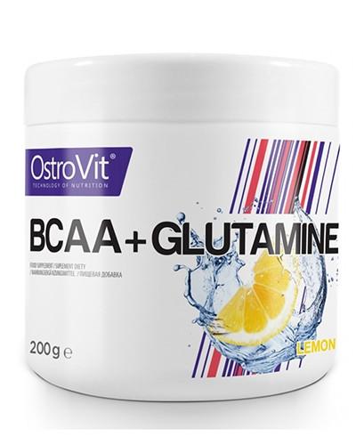 Амінокислоти bcaa Ostrovit BCAA + L-Glutamine 200 g зі смаком
