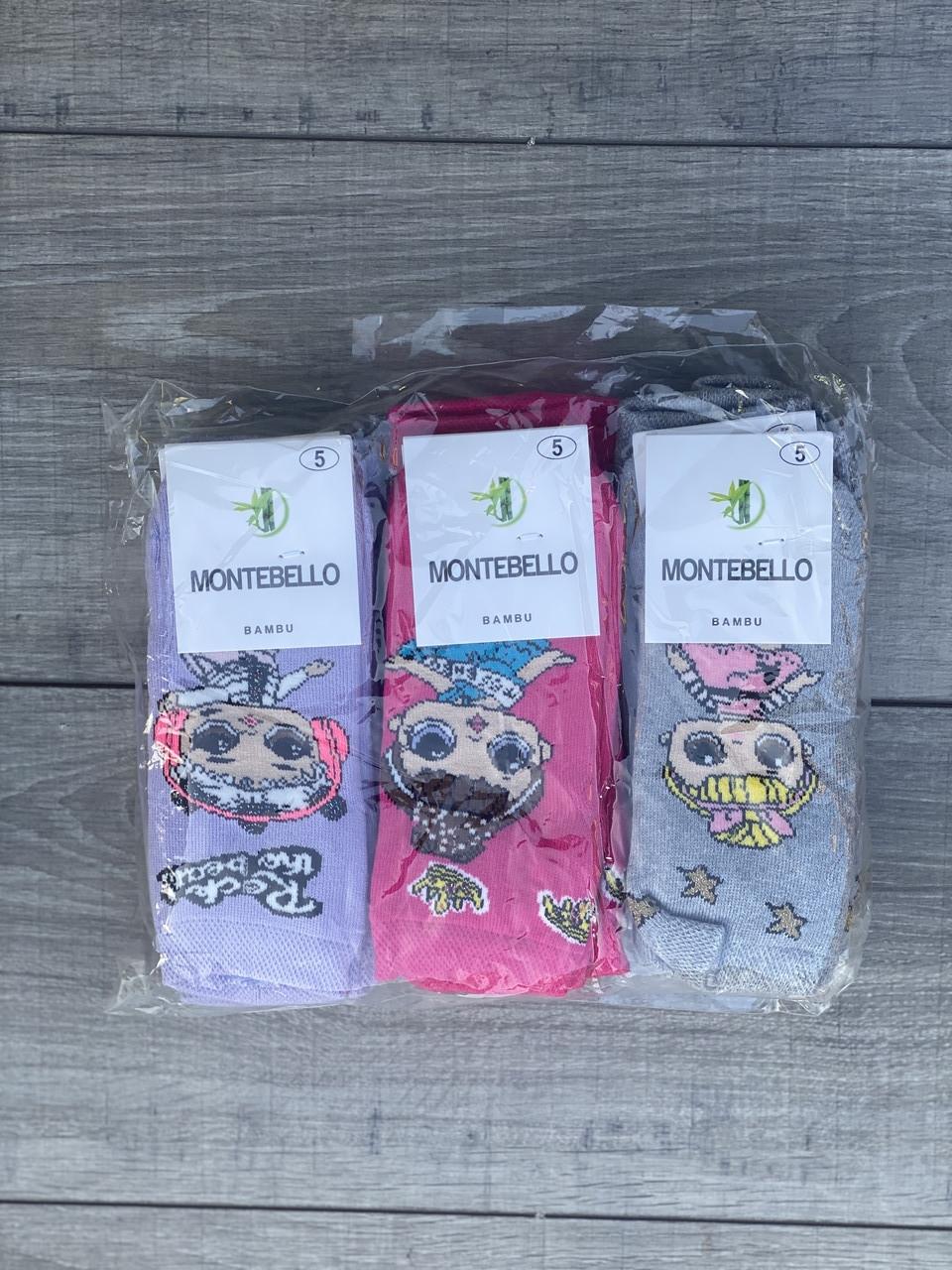Дитячі дівчачі шкарпетки махрові носки lol Montebello  розмір 5
