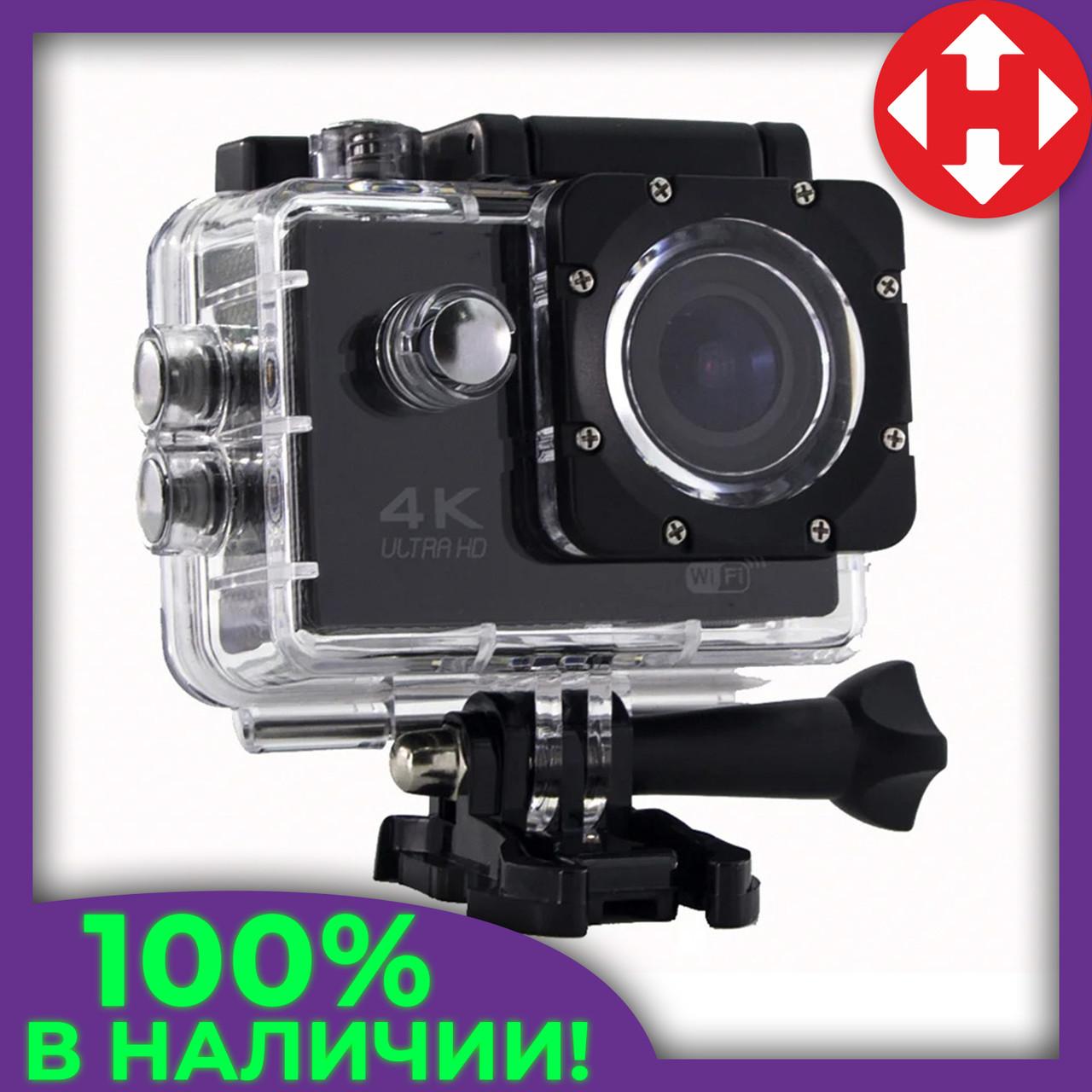 Водонепроницаемая Экшн Камера Action Camera UKC S2 4K Ultra HD WiFi, подводная видеокамера, Чёрная