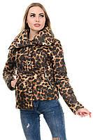 Женская демисезонная куртка A.G. 245 «Далия принт» леопард 42