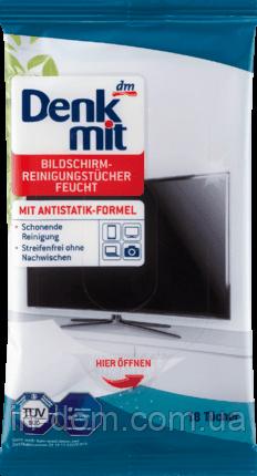 Denkmit Feuchte Bildschirmreinigungstücher Салфетки антистатик для ухода за телевизорами и мониторами 18 шт.