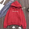 Стильные худи на флисе  Красные, чёрные, белые  (606), фото 3
