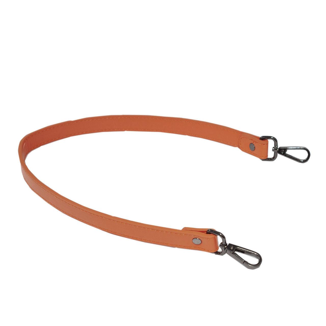 Ручка для сумки экокожа Оранж 63 см на поворотных карабинах