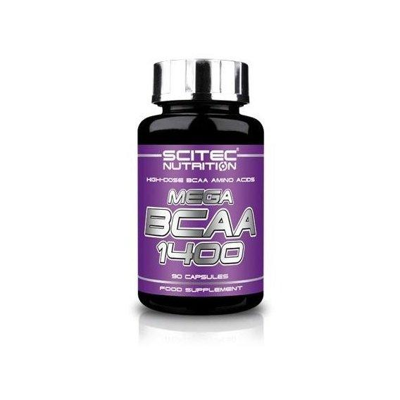Амінокислоти bcaa Scitec Nutrition MEGA BCAA 1400 (90 caps)