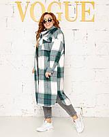 Женская теплая рубашка пальто Кашемир с шерстью Размер 46-54 и 56-62 Разные цвета