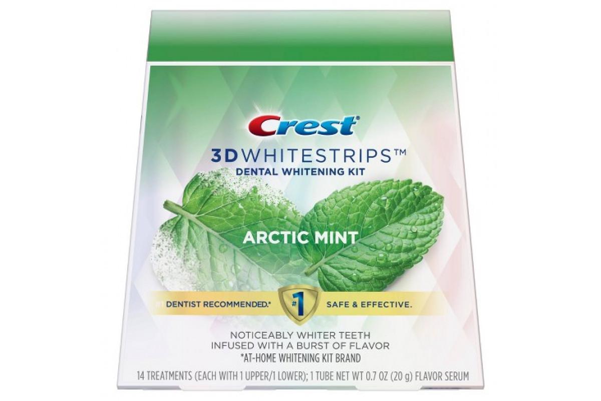 Відбілюючі смужки Crest 3D Whitestrips Arctic Mint ( 14 верхніх 14 нижніх смужок)