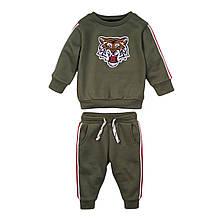 Детский спортивный костюм для мальчика хаки 1-2 года, 74-80 см