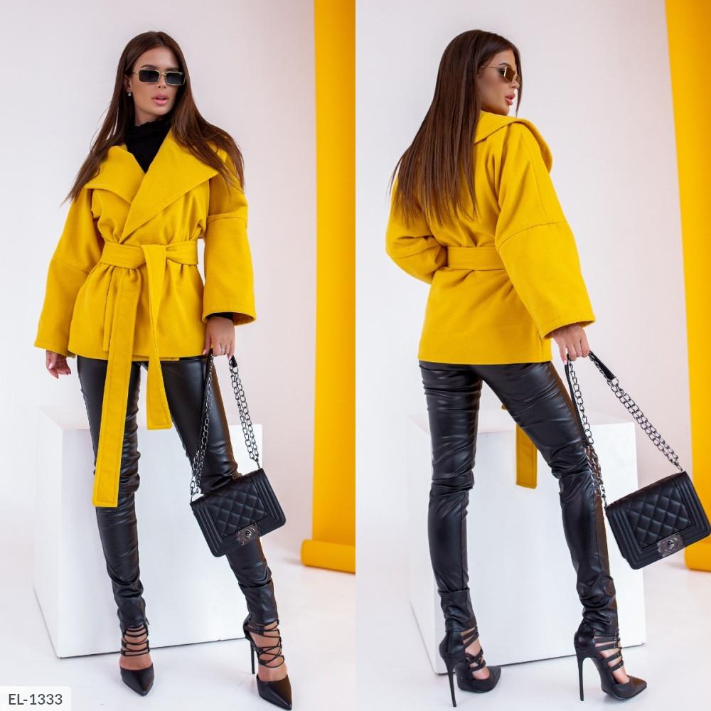 "Короткое пальто на подкладке ""Монро"", жёлтое, №248, 42-46р."