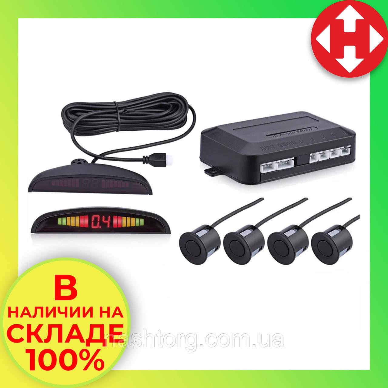 Парковочная система парктроник (4 датчика парковки) Parking Sensor, Черный, парковочный радар