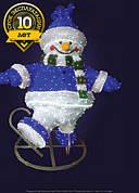 """3D фигура светодиодная """"Снеговик на коньках"""""""