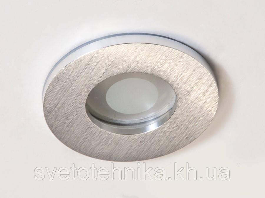 Встраиваемый  влагозащищенный точечный светильник из алюминия DIASHA 160B-40-R-SL, серебро IP44