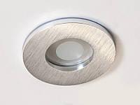 Встраиваемый  влагозащищенный точечный светильник из алюминия DIASHA 160B-40-R-SL, серебро IP44, фото 1