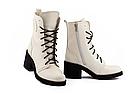 Женские ботинки кожаные весна/осень белые U Spirit, фото 2