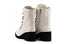 Женские ботинки кожаные весна/осень белые U Spirit, фото 7
