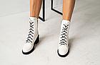 Женские ботинки кожаные весна/осень белые U Spirit, фото 4