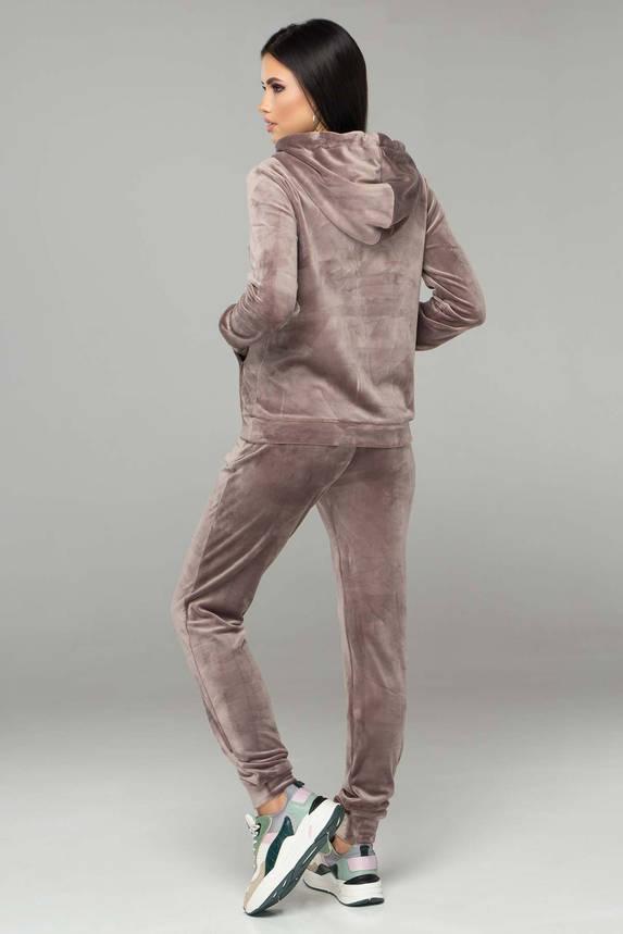 Женский бархатный спортивный костюм с капюшоном, фото 2