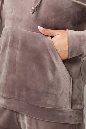 Женский бархатный спортивный костюм с капюшоном, фото 3