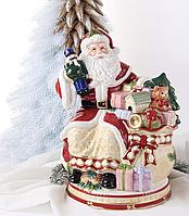 Конфетница, емкость для сладостей Дед Мороз с подарками 59-580