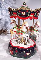 Статуэтка музыкальная, новогодняя Карусель 59-438