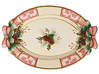 Блюдо Новогоднее керамическое 43 х 30 см 59-574