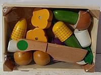 Деревянная игрушка Продукты MD 1073 пазлы, магнитные, 8 предметов, ящик