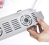 Кулер для води Lexical настільний компресорний охолодження/нагрів 550W/90W настільний диспенсер води, фото 4