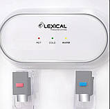 Кулер для води Lexical настільний компресорний охолодження/нагрів 550W/90W настільний диспенсер води, фото 3