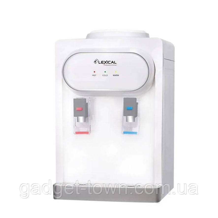 Кулер для води Lexical настільний компресорний охолодження/нагрів 550W/90W настільний диспенсер води