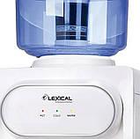 Кулер для води Lexical настільний компресорний охолодження/нагрів 550W/90W настільний диспенсер води, фото 2