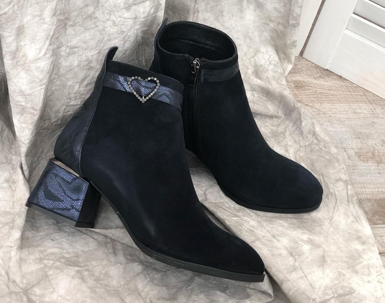 Кожаные женские ботиночки на маленьком каблуке 141 с/з 37,38,39,40 размеры