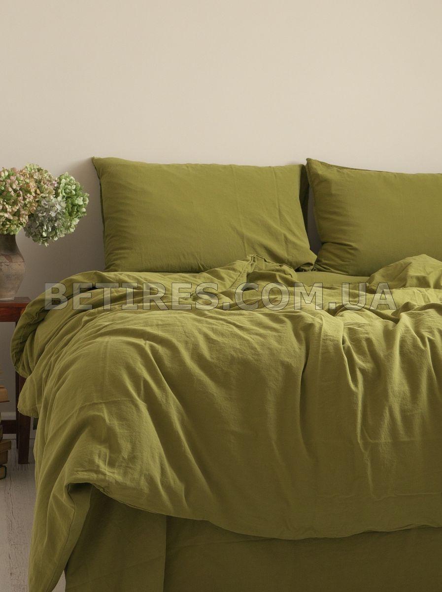 Комплект постельного белья 200x220 LIMASSO OLIVE STANDART оливковый