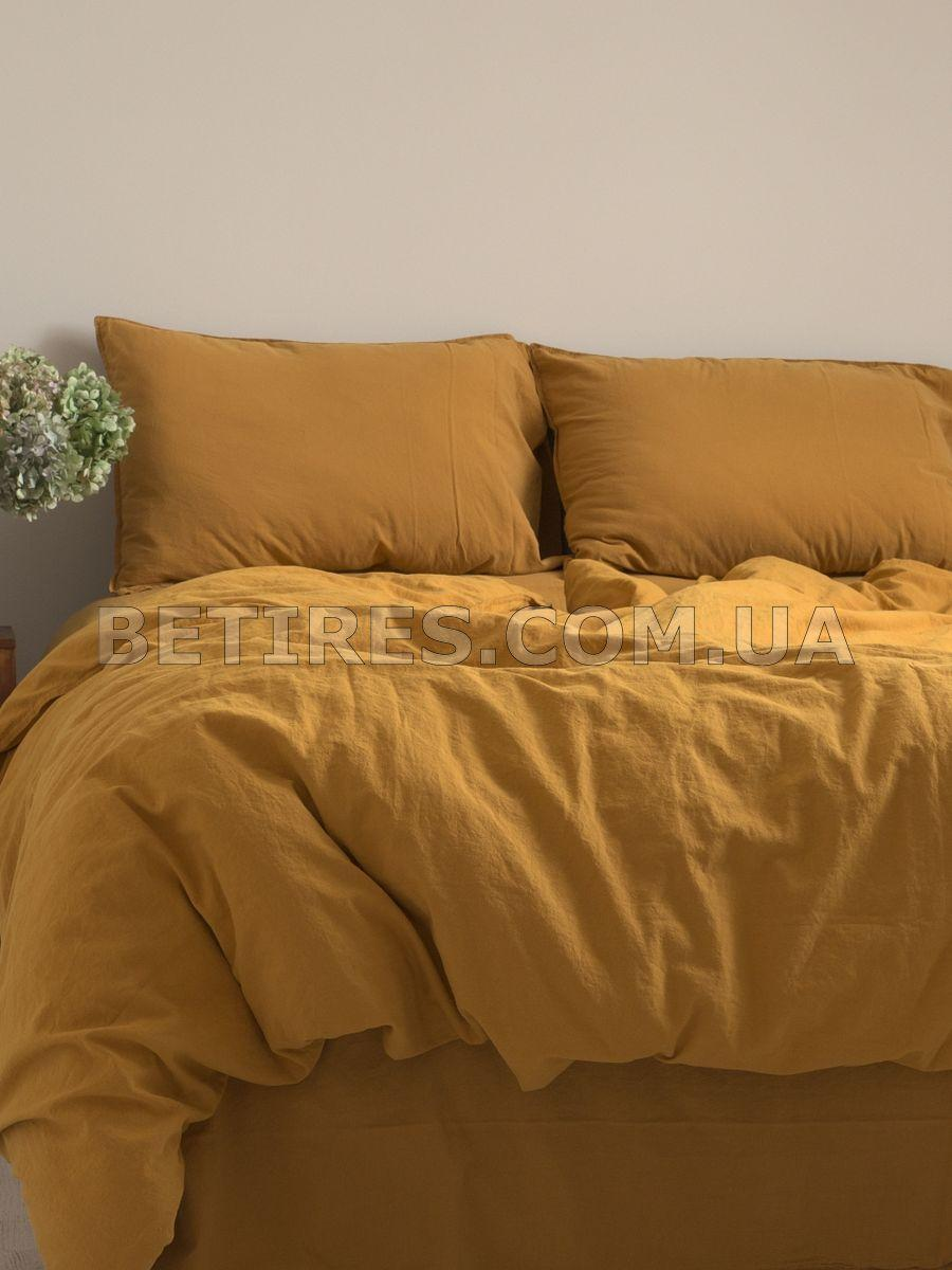 Комплект постельного белья 200x220 LIMASSO MUSTARD STANDART горчичный