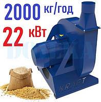 Зернодробилка молотковая KRAFT-22 (22 кВт, 2000 кг в час)