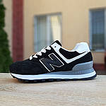 Женские кроссовки New Balance 574 (черно-белые) 20233, фото 8