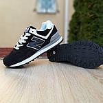 Женские кроссовки New Balance 574 (черно-белые) 20233, фото 4