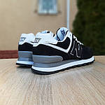 Женские кроссовки New Balance 574 (черно-белые) 20233, фото 2