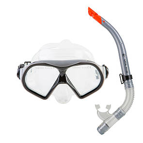 Набор для плавания маска с трубкой Dolvor M9510P+SN52P серый